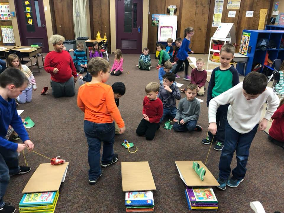 STEM Reading Buddies & Christmas Celebration